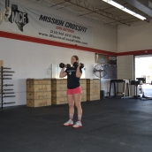 Dumbbell Front Squat Finish