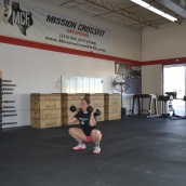 Dumbbell Front Squat Bottom